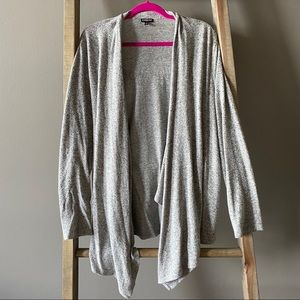 Grey Express Waterfall Cardigan